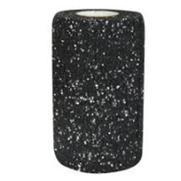 "Andover Coated Products Bandage PowerFlex 2.75""x6yd Athletic Foam Glitter Black 48/Ca"