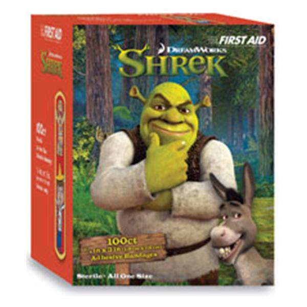 "Dukal oration Bandage Plastic 3/4x3"" Shrek Pinocchio and Gingerbread Man 100/Bx, 12 BX/CA (10853)"