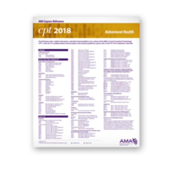 American Medical Association Coding Card Express Reference Ear, Nose & Throat 2018 Ea
