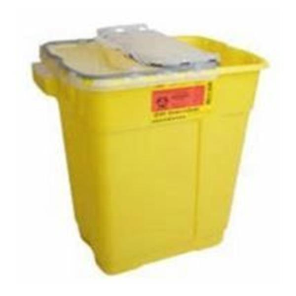 Becton-Dickinson Container Sharps 5gal 1-Piece Plastic Clear/Yellow 8/Ca