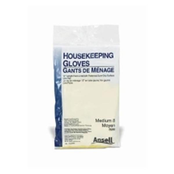 Ansell Healthcare Products  Gloves Housekeeping PF Latex 12 in Lg Yellow Reusable 12bx/Ca