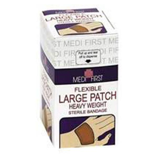 "Medique Pharmaceuticals Bandage Medi-First 2x3"" Patch Elastic/Fabric Tan LF Sterile 25/Pk"