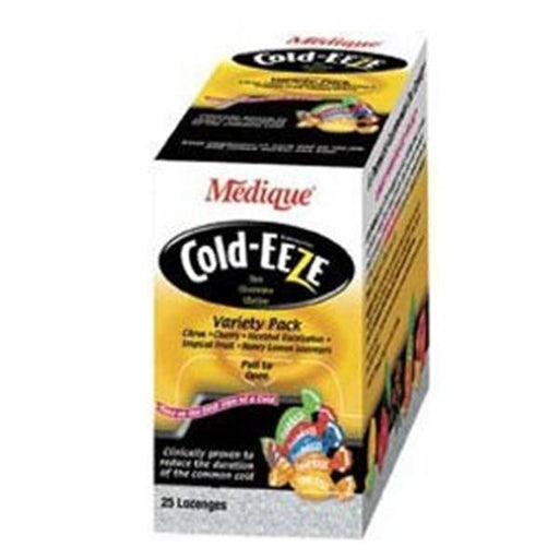 Medique Pharmaceuticals Cold-Eeze Cough/Cold Lozenges Variety Pack 25/Bx