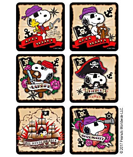 Medibadge Peanuts Snoopy Stickers - Peanuts, Snoopy, Pirate Stickers - 1698P