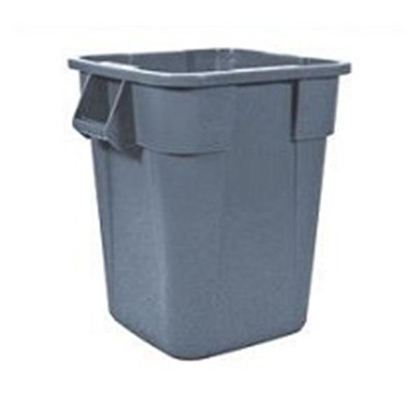 Rubbermaid Container Waste Brute Plastic 40gal Gray Square/Round Corners EA