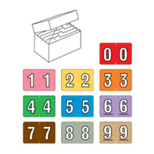 IFS Filing Systems  Sycom Numeric Starter Kit Box2,250 Labels Ea