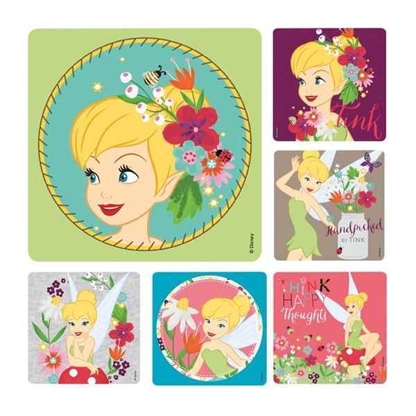 Office Supplies & Practice Mkt Stickers 2.5 in x 2.5 in Tinkerbell Assorted 100/Rl