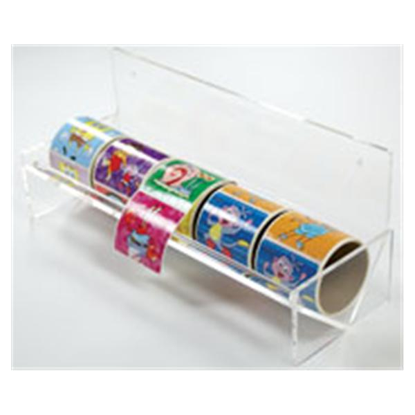 Office Supplies & Practice Mkt Sticker Dispenser 5 Roll Clear Plastic 14 5/8 in x 5 in x 6 in Ea