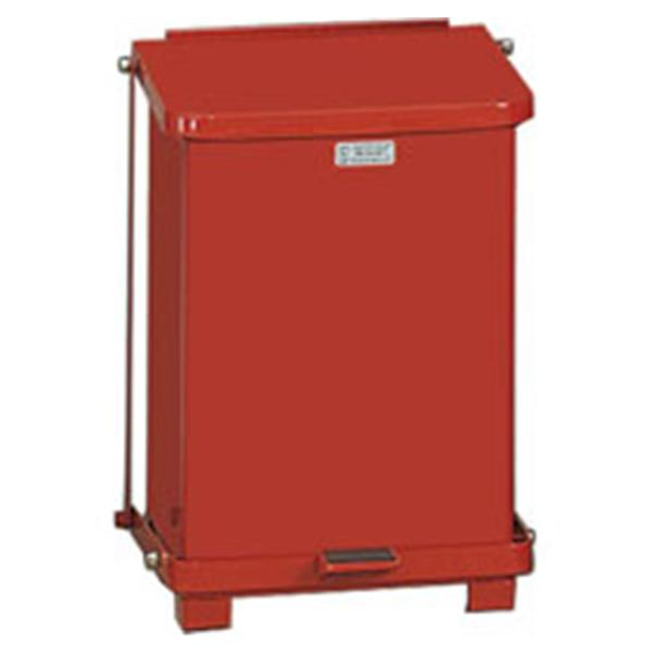 Rubbermaid Can Trash Defenders Stl 7gal Step-On Pedal Flat Lid Red Square Ea