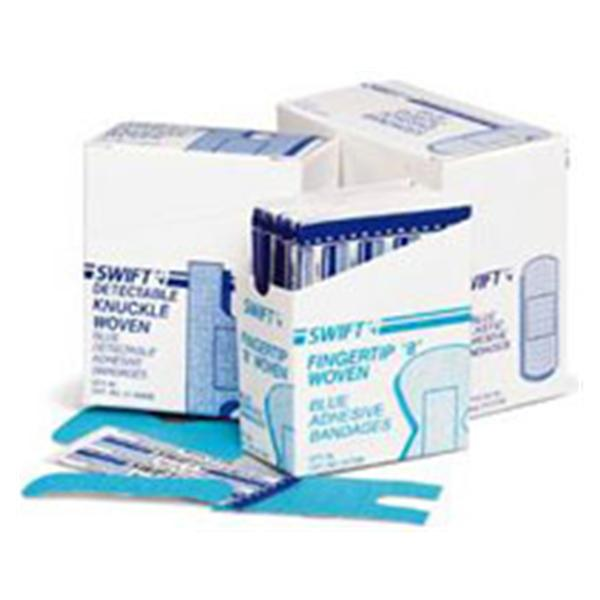 "Honeywell Safety Products Bandage Metal Detectable Fbrc Swift 1x3"" Flexible Blue LF 100/Bx"