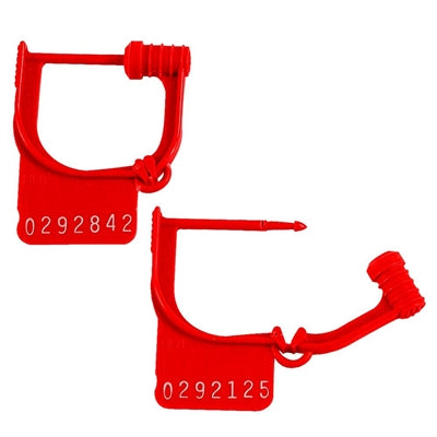 Handy Padlock Seals, Numbered - Red