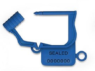 Handy Padlock Seals, Numbered - Blue