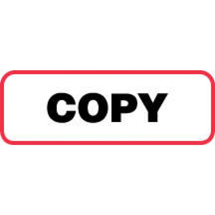 "Label Paper Permanent Copy 1 1/2"" X 1/2"" White With Red 1000 Per Roll"