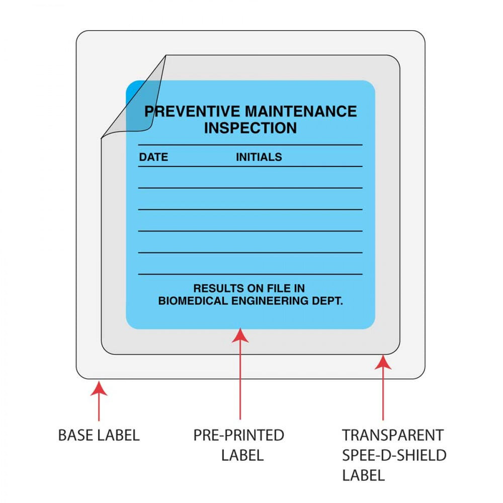 "Spee-D-Shield Label Synthetic Permanent 2 1/2"" X 1 1/4"" Clear 1000 Per Roll"