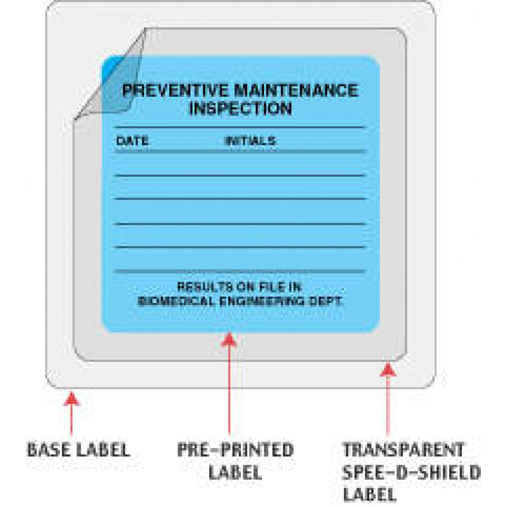 "Spee-D-Shield Label Synthetic Permanent 2 1""/4"" X 1 Clear 1000 Per Roll"