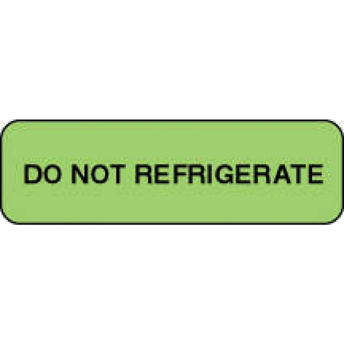 "Label Paper Permanent Do Not Refrigerate 1 1/4"" X 3/8"" Fl. Green 1000 Per Roll"
