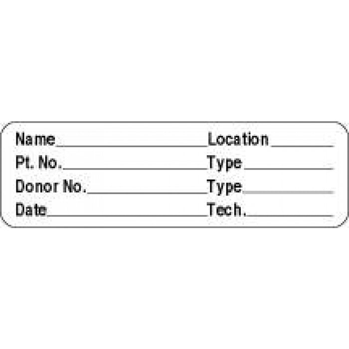 "Label Paper Permanent Name ___ Location 2 7/8"" X 7/8"" White 1000 Per Roll"