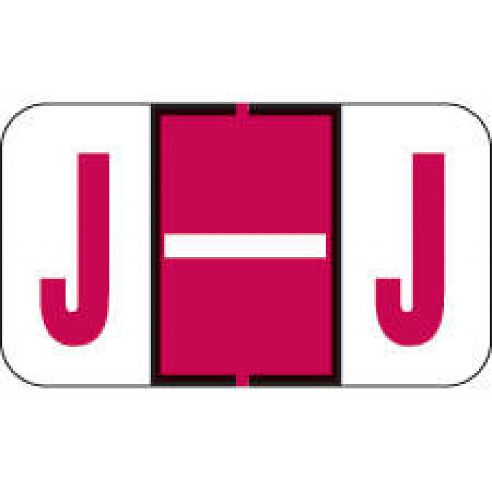 "Jeter Compatible 5100 Color-Code Label Alphabetical Compatible Series 1 5/8"" X 15/16"" 500/Roll"