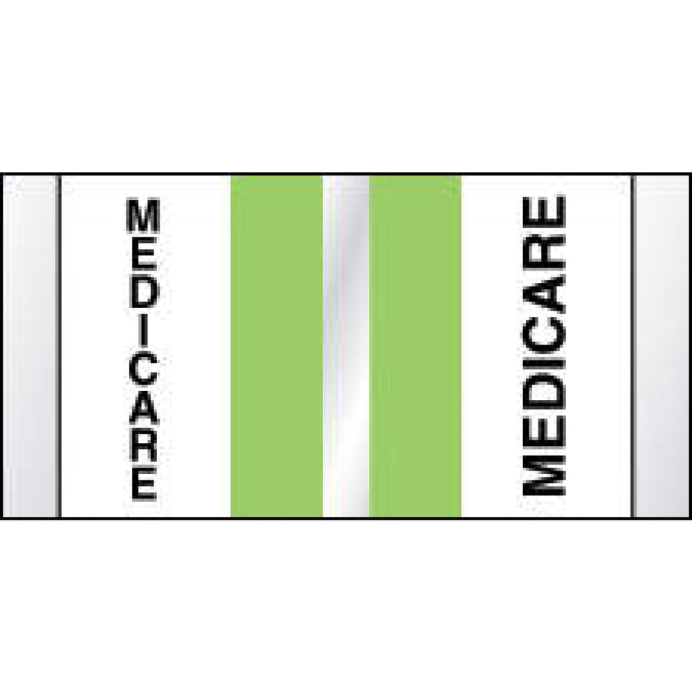 "Chart Tab Paper Medicare Medicare 1 1/2"" X 3/4"" Green 108 Per Package"