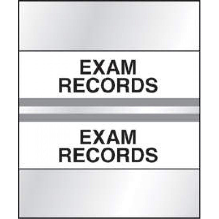 "Chart Tab Paper Exam Records Exam 1 1/4"" X 1 1/2"" Gray 100 Per Package"