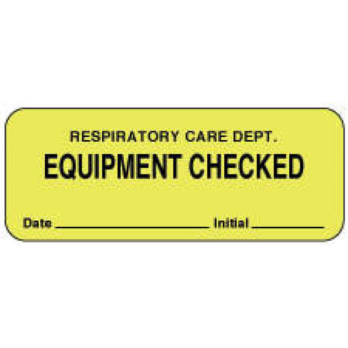"Label Paper Permanent Respiratory Care 2 1/4"" X 7/8"" Fl. Yellow 1000 Per Roll"