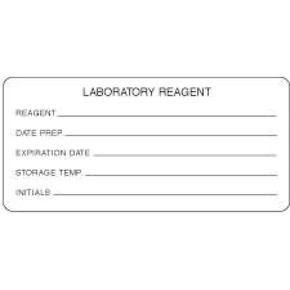 "Label Paper Permanent Laboratory Reagent 4"" X 2 1/8"" White 250 Per Roll"