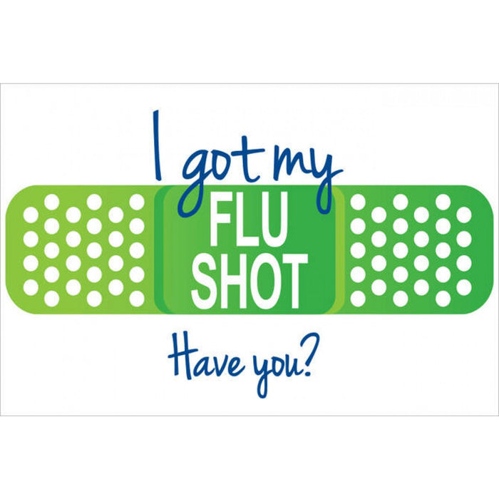 "Label Paper Removable ""I Got My Flu Shot, Have You?"" 3"" X 2"" White 250 Per Roll"