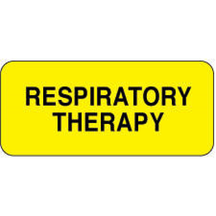 "Label Paper Permanent Respiratory Therapy 2 1/4"" X 7/8"" Yellow 1000 Per Roll"