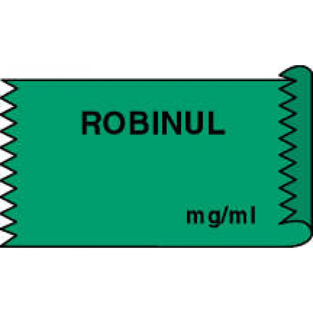 "Tape Removable Robinul Mg/Ml 1"" Core 1/2"" X 500"" Imprints Green 333 500 Inches Per Roll"