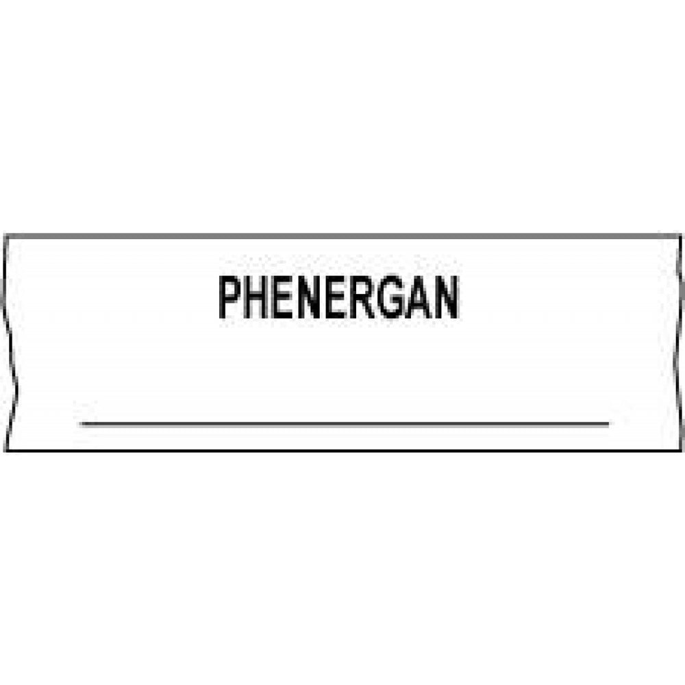 "Tape Removable Phenergan ___ 1"" Core 1/2"" X 500"" Imprints White 333 500 Inches Per Roll"