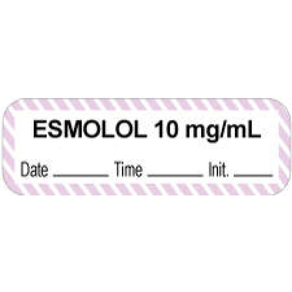 "Anesthesia Label With Date, Time, And Initial Paper Permanent ""Esmolol 10 Mg/Ml"" Core 1 1/2"" X 1/2"" White With Violet 1000 Per Roll"