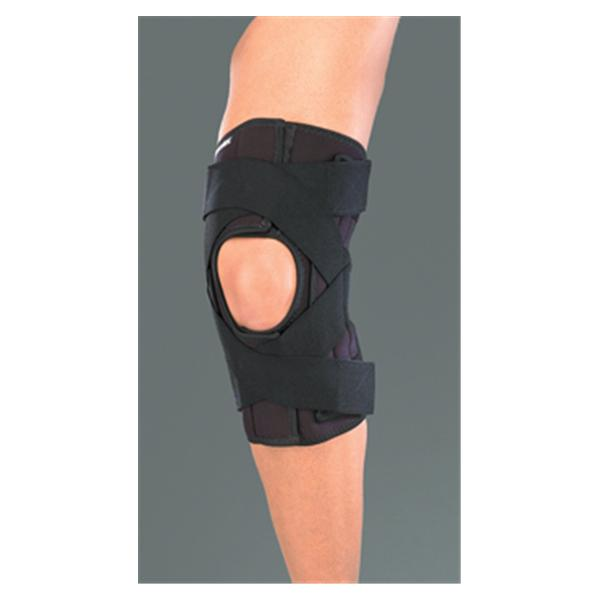 Mueller Sports Medicine Brace Wraparound Deluxe Knee Neoprene Black Size Small EA