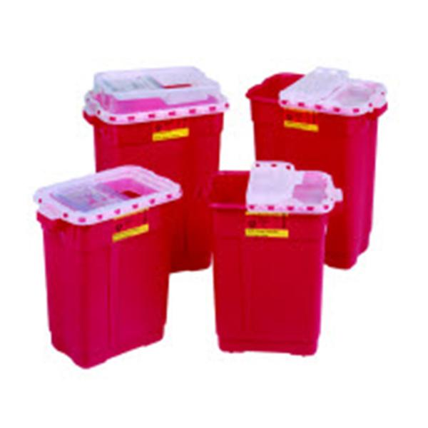 Becton-Dickinson Collector Sharps 9gal X-Large Red/Clear Ea, 8 EA/CA (305602)
