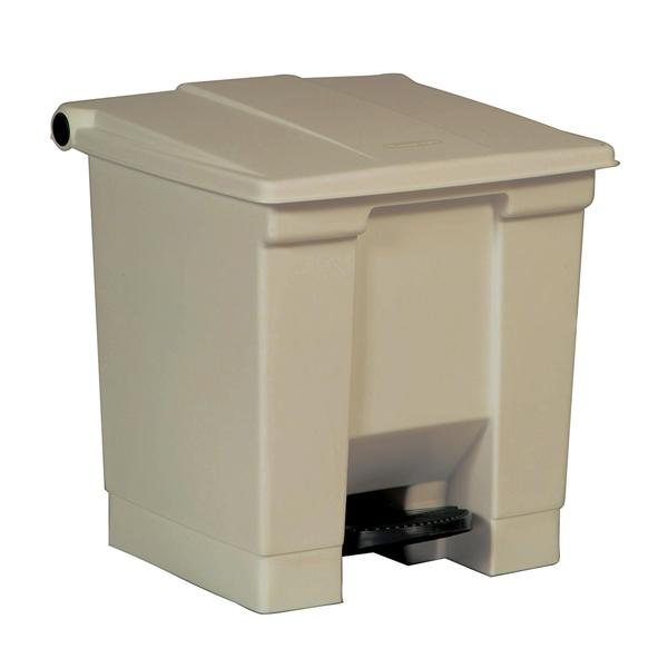 Rubbermaid Container Waste Plstc 8gal Step-On Overlapping Lid Bg Square EA