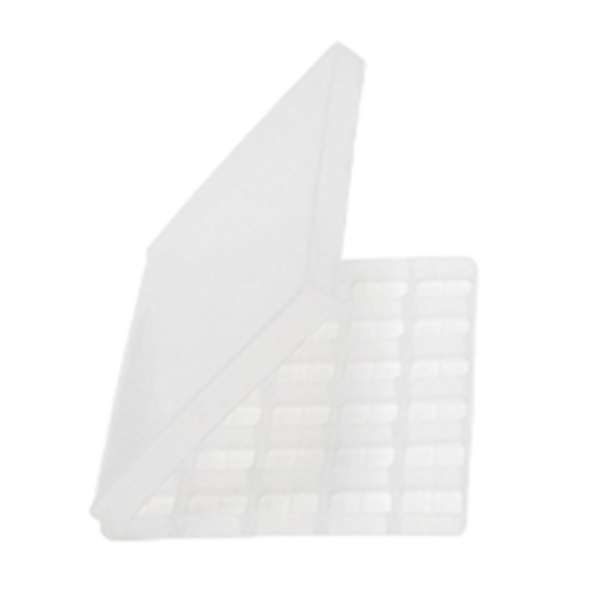 Troche Mold with Hinged Lid (30 Cavity) clear
