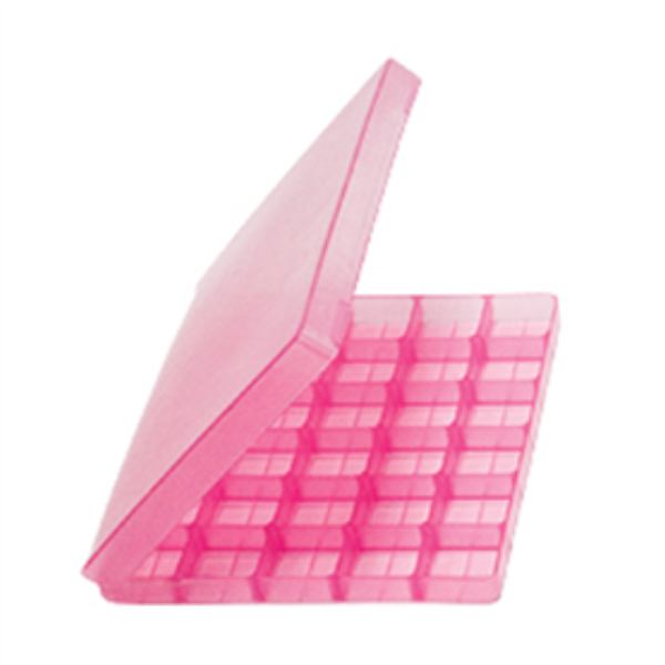 Troche Mold with Hinged Lid (30 Cavity) pink