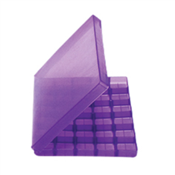Troche Mold with Hinged Lid (30 Cavity) purple