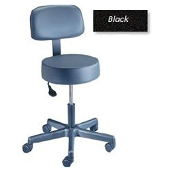 Brewer Company Stool Exam Value Plus Black Casters Backrest 5 Leg ea (22500B)