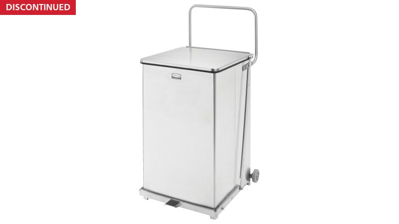 Rubbermaid Container Waste Defenders Stl 40gal Step-On Ld Wht Sqr Ea (FGST40EWPLWH)
