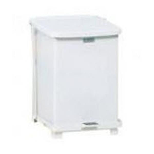 Rubbermaid Container Waste Defenders Stl 7gal Step-On Ld Wht Sqr Ea