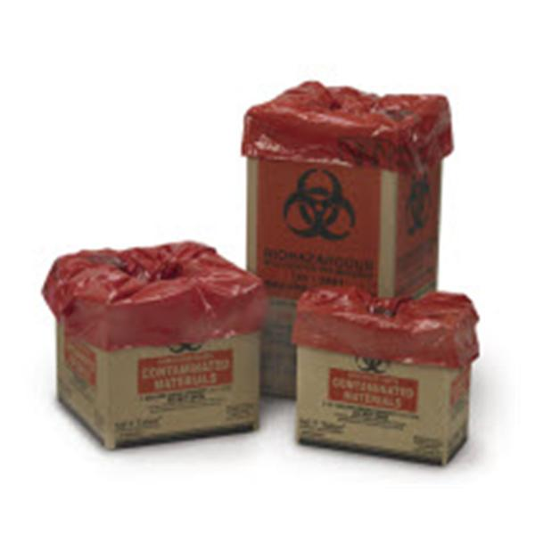 Medegen Medical Products Container Biohazard Saf-T-Tainer 11gal Cardboard Red/Black 14/Ca
