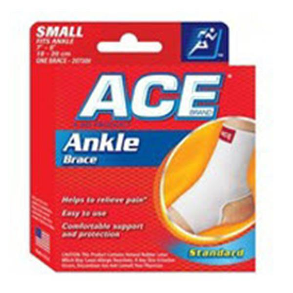 3M Consumer Health Care Brace Support Ace Ankle Ctn/Elstc White Size Small Universal Ea, 12 EA/CA (207300)