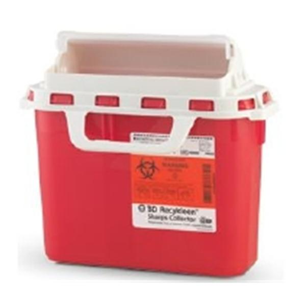 Becton-Dickinson Collector Sharps Recykleen 6gal Small Red 12/Ca