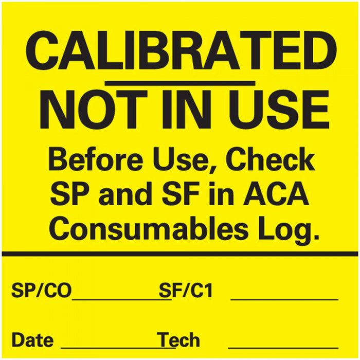 "Label Paper Permanent Calibrated Not In 1"" Core 2"" X 2 Yellow 1000 Per Roll"