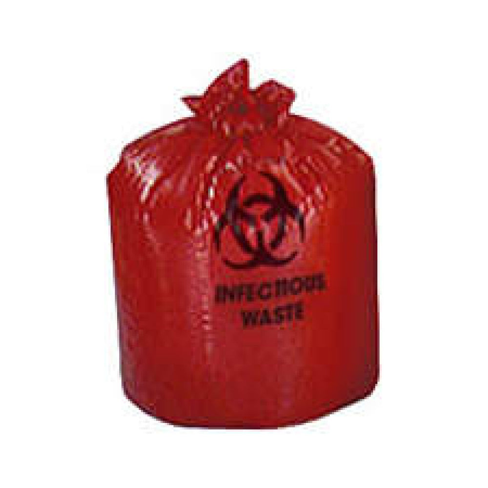 "Biohazard Bag ""Infectious Waste"" High Performance Resin Secure Load Handling 500/Case"