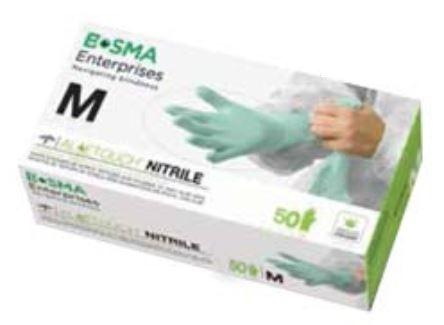 Aloetouch Ext Cuff Nitrile Gloves