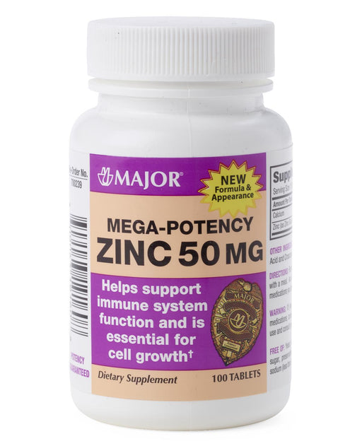 Zinc Gluconate Tablets 50 mg Strength Tablet 100 per Bottle