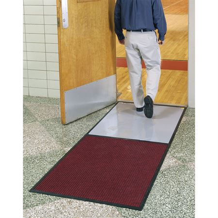 "Clean Stride Double Frame Mat 36.5""W x 92.5""L - with Carpet Panel"