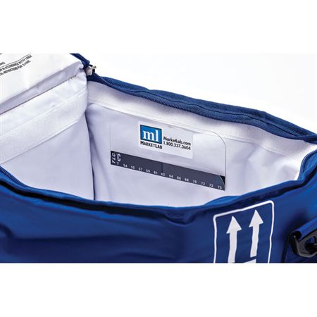 "Dry Ice Dual Chamber Tote Dual Chamber Transport Bag with Dry Ice Liners - 16""W x 9""D x 9""H - Blue"