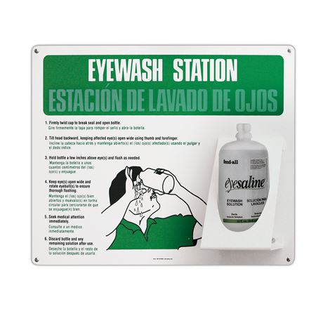 Double Eyewash Station Bilingual Version